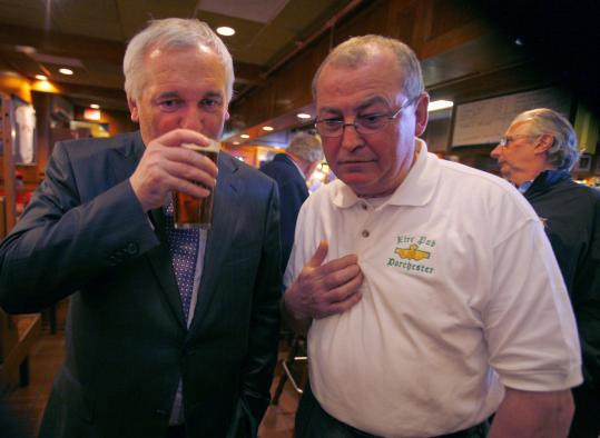 In 2008, Ireland's prime minister, Bertie Ahern, drank at the Eire Pub in Dorchester with co-owner Martin Nicholson.