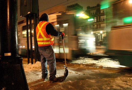 After snow hit the Boston area last week, at least one commuter raised questions about snow removal at stations.