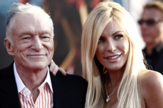 Hugh Hefner and Playmate Crystal Harris.