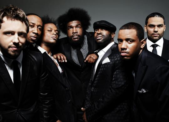 "?uestlove Thompson (center) says the Roots's new album, ""How I Got Over,'' reflects on where the veteran hip-hop band is headed."