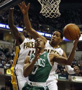 Rajon Rondo&#8217;s absence has allowed Avery Bradley (above) to get playing time, as he did last night, playing seven minutes.