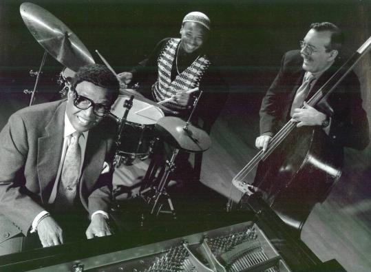 Jazz musician and composer Billy Taylor (left) with Winard Harper (center) and Chip Jackson.
