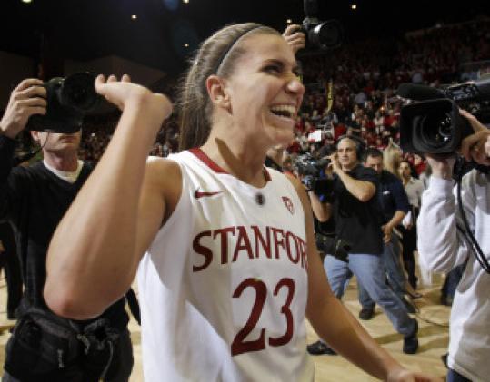 Jeanette Pohlen scored 31 points in Stanford's win.