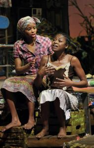 "Carla Duren (left) and Pascale Armand in Lynn Nottage's ""Ruined,'' which won the 2009 Pulitzer Prize for drama."