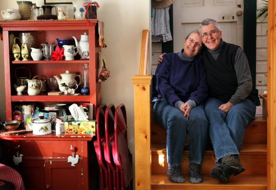 Jamaica Plain couple Betty Jo Green (left) and Jo Ann Whitehead are among plaintiffs challenging the Defense of Marriage Act.