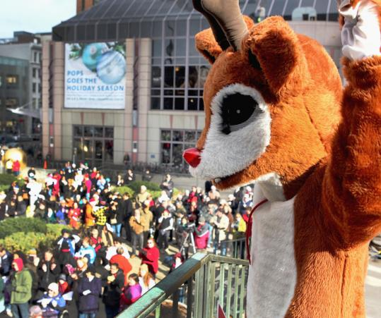 Rudolph, the red-nosed reindeer, was invented in 1939 by an employee at Montgomery Ward as a Christmas promotional gimmick. In many forms, he still draws a crowd.
