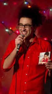 """MC Mr. Napkins followed comedians and his musical collaborator with a set that ranged from """"F-Bombs'' to """"Geography Trivia.''"""
