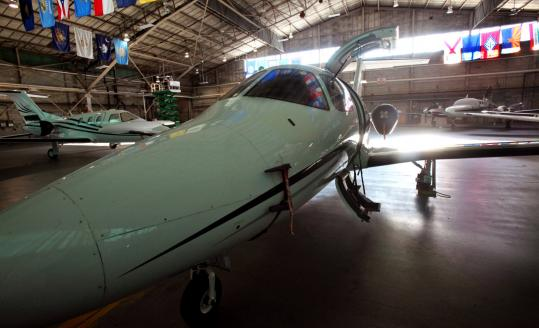 Linear Air of Concord, which has four Eclipse 500 jets at Hanscom, saw its business double last year.
