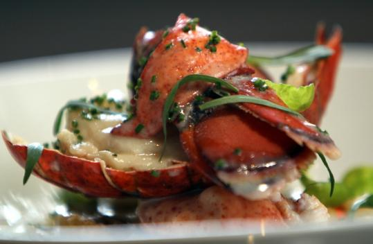 Baked stuffed lobster is among the options at Island Creek Oyster Bar.