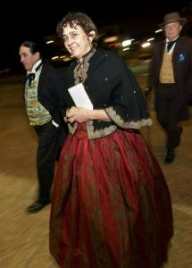 Guests in period costume arrive for the Secession Ball on the 150th Anniversary of South Carolina's Secession from the Union.