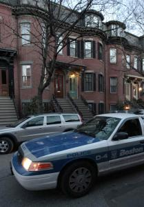 A cruiser drove past the South End home of Prince Ali Reza Pahlavi. Officials say his death appears self-inflicted.