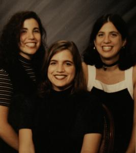Sisters, from left, Heidi Lyn, Jodi, and Melissa Gosule a year before Melissa was murdered by a man with a lengthy criminal record.