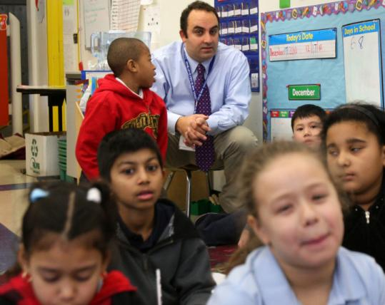 Stephen Zrike resigned as principal of the South End's Blackstone Elementary School to take a job in Chicago.