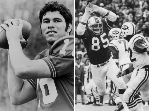 1974: Plunkett's Patriots started fast The 1974 Patriots flew out of the gate and raised the hopes of fans that they were headed for the playoffs. The team was led by the 1971 No. 1 draft pick, quarterback Jim Plunkett (left), on offense and talented defensive end Julius Adams (right) and cornerback Ron Bolton on defense. The Chuck Fairbanks-coached team started 5-0, but injuries crept in -- the most devastating being a knee injury that knocked out tight end Bob Windsor in Game 7 -- and the team struggled in the second half, going 1-6 down to the stretch, to finish at 7-7 and out of the postseason. Plunkett threw for more than 2,400 yards, but had 22 interceptions to go along with his 19 touchdowns.
