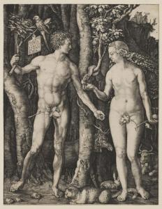 Albrecht Dürer's 'Adam and Eve' shows his Gothic and Italian Renaissance influences.