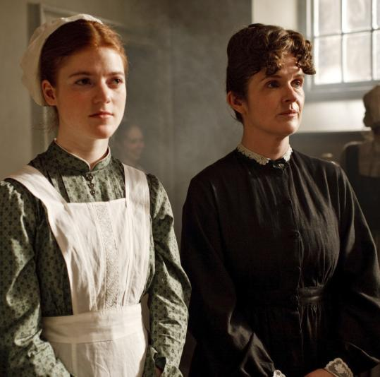 Rose Leslie (left) and Siobhan Finneran play servants in 'Downton Abbey.'