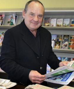 """CSI'' star Paul Guilfoyle in Dorchester yesterday."