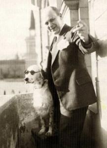 Tor Borg and his dog Jackie, who imitated a Nazi salute, were the subjects of some 30 recently found Nazi files.