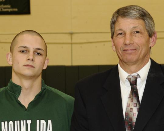 Joe Cabral (above) and his father, coach Rico Cabral. Mt. Ida teammate Brian Hapgood (left) recently got a triple-double.