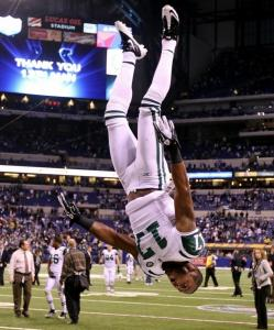 . . . which inspired quite a celebration by the Jets receiver.