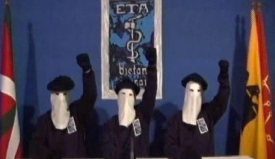 Masked members of the militant Basque separatist group ETA appeared in a video distributed to Spanish media yesterday.