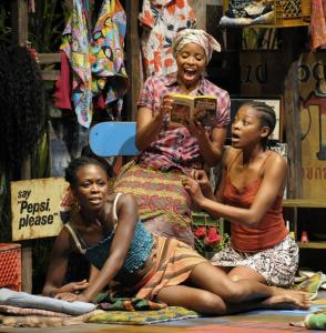 "Zainab Jah, Carla Duren, and Pascale Armand in Lynn Nottage's ""Ruined.''"