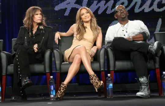"Judges Steven Tyler (left), Jennifer Lopez, and Randy Jackson discussed the upcoming season of ""American Idol'' last week."