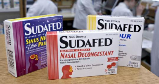 Tylenol, Sudafed, and other nonprescription drugs were recalled.