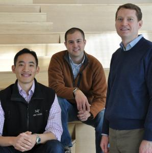 Rob Go (left), Lee Hower, and David Beisel founded NextView Ventures, a Cambridge firm that provides seed stage funding.