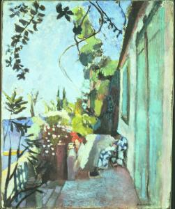 "Matisse painted ""The Terrace,'' which includes the hunched figure of his wife, Amelie, wearing her favorite Japanese robe, a year after he considered laying down his brushes for good."