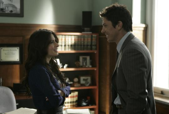 "Sarah Shahi plays a former lawyer, and Michael Trucco plays her DA husband in the new USA series ""Fairly Legal.''"