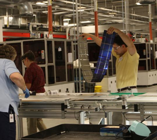 Three years ago, workers at Evergreen Solar Inc. were busy putting together solar panels at its Devens factory.