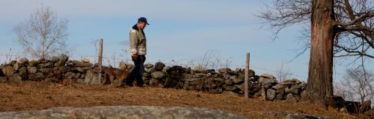 Jon Nourse, walking along a boundary at the Westborough farm that his family has run since 1722, says one key to its survival as an agricultural operation has been adapting to change.