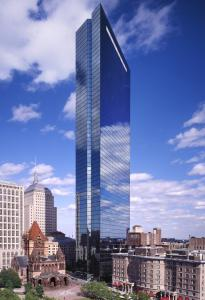 The John Hancock Tower (pictured) received the Twenty-Five Year Award, while the Cambridge Public Library won the Harleston Parker Medal.