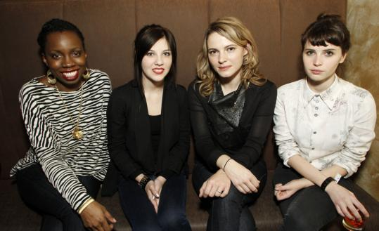 "Among the ""Fresh Faces'' honored at the Sundance Film Festival in Park City, Utah, this year are (from left) Adepero Oduye, who stars in ""Pariah''; Olivia Crocicchia in ""Terri''; Amy Seimetz in ""The Off Hours''; and Felicity Jones in ""Like Crazy.''"
