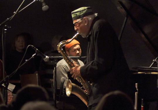 Charles Lloyd on saxophone and Jason Moran on piano at Regattabar on Friday night.