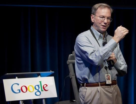Eric Schmidt has led Google since 2001, three years before the company went public in August 2004.