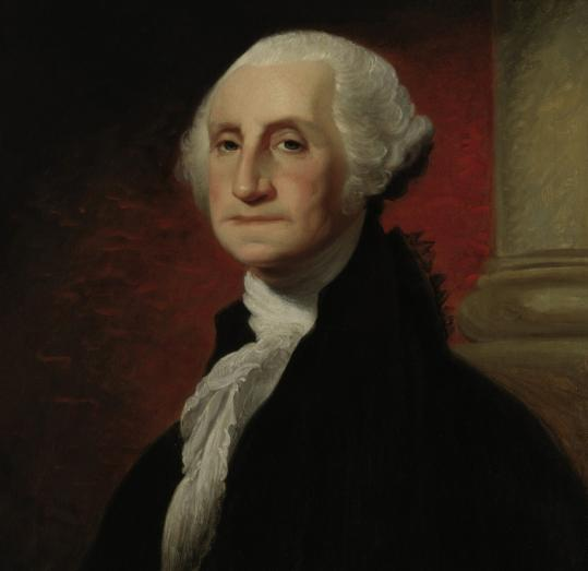 A Gilbert Stuart portrait of George Washington, circa 1796-1803.