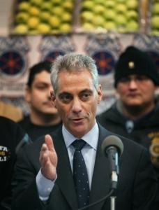 A lower court Monday threw Rahm Emanuel off the ballot for mayor of Chicago.
