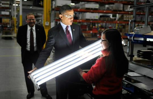 President Obama toured Orion Energy Systems in Manitowoc, Wis., to highlight his push for technological competitiveness.