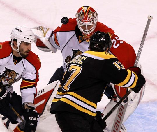 Panthers goalie Tomas Vokoun stopped Milan Lucic in the third period, but Lucic popped in No. 20 in the second.