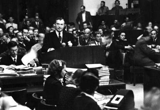 Supreme Court Justice Robert H. Jackson, chief US prosecutor, in 'Nuremberg.'