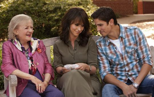 "Betty White, Jennifer Love Hewitt, and Sean Faris star in ""The Lost Valentine.'' White plays the widow of a Navy pilot who has been missing since World War II."