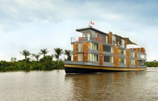 Plying the Amazon, the Aqua transports 24 guests in its 12 rooms.