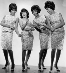 A publicity photo of the Marvelettes with Gladys Horton (left), Wanda Rogers, Georgeanna Tilman, and Katherine Anderson.