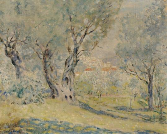 """Olive Trees, Cagnes'' is expected to be sold at auction for between $50,000 and $70,000."