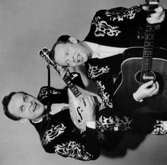 The Louvin brothers, Ira and Charlie (right), inspired many.