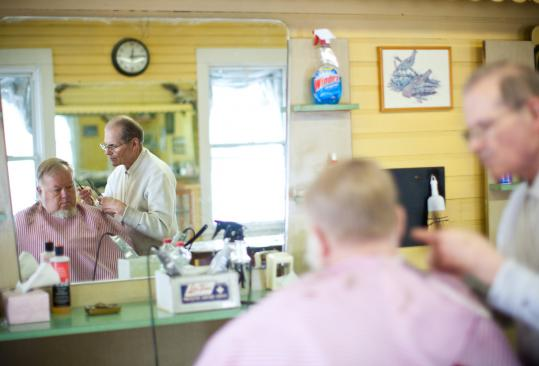 Peter Lareau, 71, the owner of Pete's Barber Shop, said he thinks Townsend is better than average.