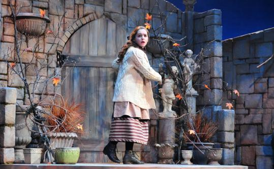 """Katherine Leigh Doherty plays the orphaned Mary Lennox, brought back from India to England, in Wheelock Family Theatre's production of """"The Secret Garden.''"""