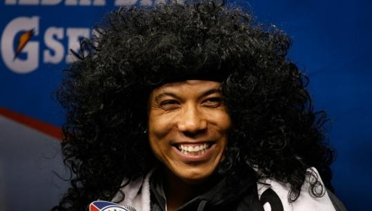 Pittsburgh's Hines Ward loves to have fun with football, and on Tuesday he was wigging out in an effort to emulate teammate Troy Polamalu.